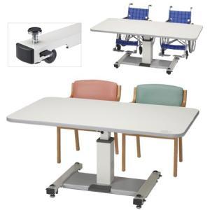 昇降式テーブル(天然木)CS-159G(1500XD900) ショウコウシキテーブル(プラス)(23-2095-03)【1台単位】|drmart