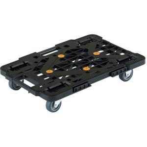 連結式樹脂製平台車 MPK-500-BK(ブラック) レンケツジュシセイヒラダイシャ(24-6699-00)【1台単位】|drmart