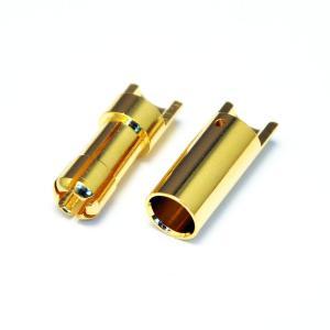 AMASS 5.5mm 先割れタイプゴールドコネクター ハーフカット(10ペア) 【メール便可】|droneparts