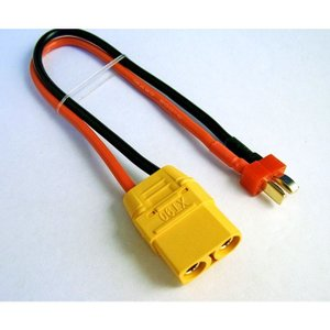 XT90コネクターメス/DEANS Tプラグオス用変換充電ケーブル 【メール便可】 droneparts