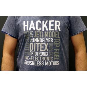 HACKER Tシャツ (ブルー/Lサイズ) 【メール便可】|droneparts