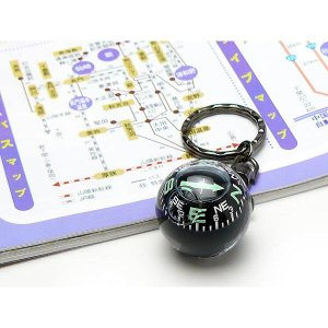 バックやキーにつけられるキーホルダー ボールコンパス G-880 (方位磁石 コンパス 磁石)