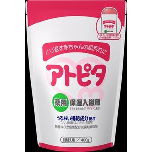 「アトピタ 薬用保湿入浴剤 詰替え用 400g」は、産まれたてのしっとりお肌に着目し、お肌をしっとり...