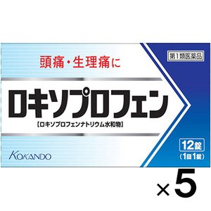 (メール便発送!送料無料!)ロキソプロフェン錠 12錠×5個(第1類医薬品)(49873430849...