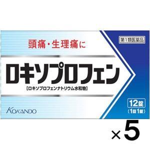 メール便発送!送料無料!ロキソプロフェン錠 12錠×5個(第1類医薬品)(4987343084910...