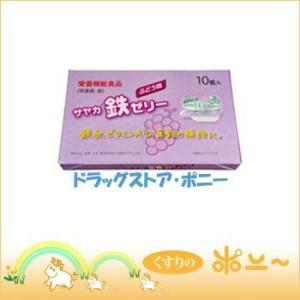 サヤカ鉄ゼリー ぶどう味 30g×10個入(サンプラネット)(4973877000755) drug-pony