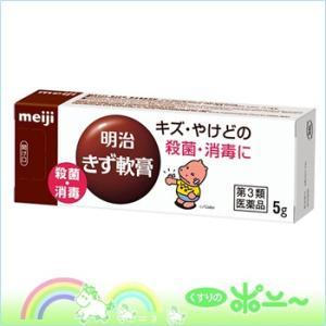【ゆうメール発送!】明治きず軟膏 5g【明治】【第3類医薬品...