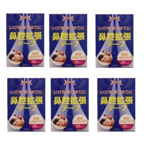 【6個セット】鼻腔拡張テープ 肌色 レギュラーサイズ 20枚入り × 6個セット|drug-yanagawa