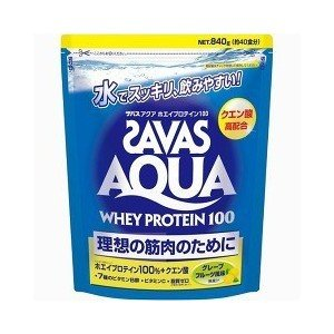 SABAS アクアホエイプロテイン100 グレープフルーツ 40食分|drug