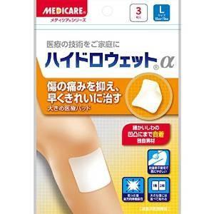 メディケアハイドロウェットα Lサイズ 3枚入り 65x70(mm)|drug