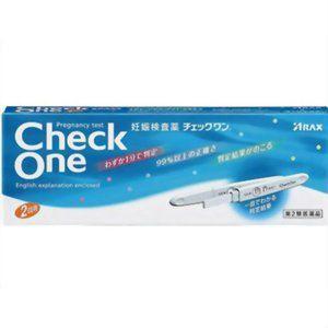チェックワン 妊娠検査薬 2回用  アラクス【第2類医薬品】 drug
