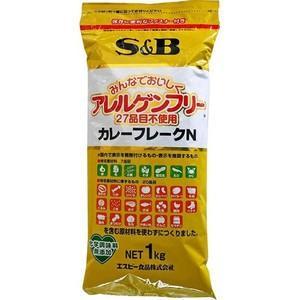Tポイント5倍相当 エスビー食品株式会社 S&Bアレルゲンフリー27品目不使用カレーフレークN 1kg×10個セット|drugpure
