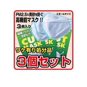 リーダーカットマスク スモールサイズ 3枚入×3個セット【パッケージ色褪せ有り】