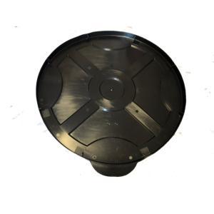 ポリ製 クローズドラム缶用 保護カバー 5枚セット (黒蓋) c19y|drumcanya