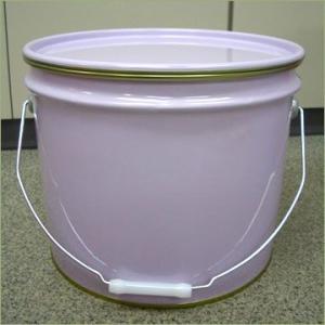 13L鉄製内面塗装オープンペール缶(外レバーバンド) p19y drumcanya