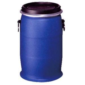 コダマ樹脂製30Lプラスチックオープンドラム缶 (外レバーバンド)UN d40y drumcanya