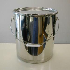 20Lステンレス鏡面仕上げオープンドラム缶(鍋底仕様・外レバーバンド) d18y|drumcanya