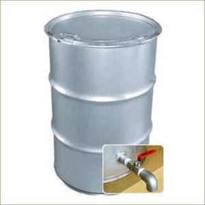 専用バルブ付 200Lステンレスオープンドラム缶 (バンド3種より) d31-32y|drumcanya
