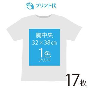オリジナルプリント代 胸中央 1色 17枚|ds-t