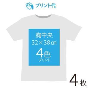 オリジナルプリント代 胸中央 4色 4枚|ds-t