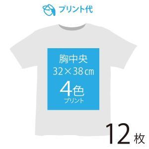 オリジナルプリント代 胸中央 4色 12枚|ds-t