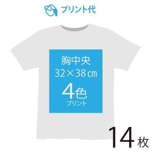 オリジナルプリント代 胸中央 4色 14枚|ds-t