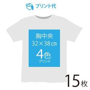 オリジナルプリント代 胸中央 4色 15枚|ds-t