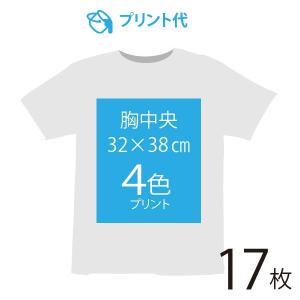 オリジナルプリント代 胸中央 4色 17枚|ds-t