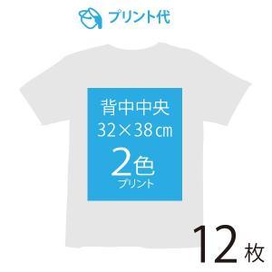 オリジナルプリント代 背中中央 2色 12枚|ds-t