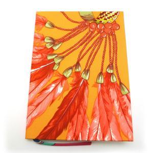 サイズ:縦:14.5cm 横:10.5cm  ※ 実寸計測  材質:シルク 色:オレンジ付属品:保存...