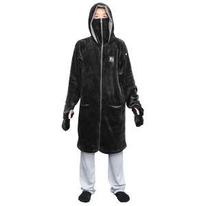 Bauhutte(バウヒュッテ) ゲーミング着る毛布 ダメ着4G LITE ブラック XLサイズ H...