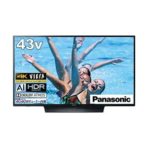 パナソニック 43V型 4Kダブルチューナー内蔵 液晶 テレビ VIERA 転倒防止スタンド搭載 TH-43HX850|dshopone-y