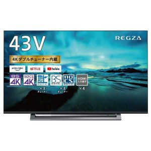 東芝 43V型 液晶テレビ レグザ 43M530X 4Kチューナー内蔵 外付けHDD W録画対応 (2019年モデル)|dshopone-y