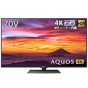 シャープ 4K ダブルチューナー内蔵 液晶 テレビ Android TV HDR対応 N-Blackパネル AQUOS 70V型 4T-C70BN1|dshopone-y