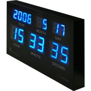 <title>電波時計 高輝度LED搭載 7セグデジタルカレンダー電波クロック 当店限定販売 日本基準時を受信する電波時計 壁に掛けても床に置いてもCoolなデザインインテリア</title>
