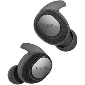 NUARL 完全ワイヤレスイヤホン Bluetooth5 お買い得 完全防水IPX7 最大再生時間28時間 NT100 リモコン付 マイク 片側紛失サポート有 限定タイムセール ブラック