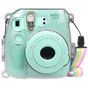 Fintie FUJIFILM インスタントカメラ チェキ Fujifilm instax mini 9 / mini 8 / mini 8プラス クリア カメラケース 透明 ハード PVC カバー 首掛け ストラップ|dsky