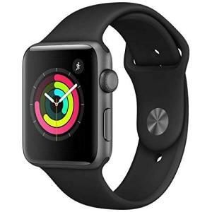 【国内正規品】Apple Watch Series 3 スペースグレイアルミニウムケースとブラックスポーツバンド アップルウォッチ シリーズ3 (GPSモデル) 42mm|dsky