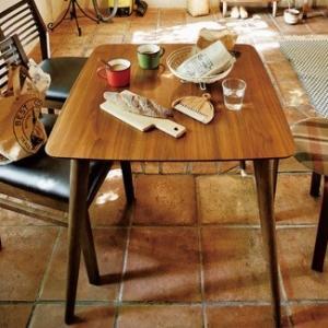 天然木(ラバーウッド) 天然木化粧繊維板(ウォルナット) ウレタン塗装 W120 X D75 X H...