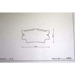 G2ブレーキパッド dp460 ヴァンガード ACA33W GSA33W ACA38W GSA38W リア トヨタ DSPEED VANGUARD Bra|dspeed
