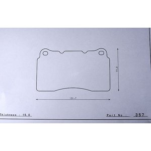 G2ブレーキパッド dp357 ブレンボ  インプレッサ GRB(WRX STI ブレンボ車) フロント DSPEED Brakepads|dspeed