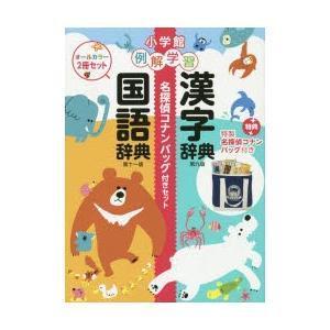 例解学習国語辞典漢字辞典名探偵コナンバッグ付きセット 2巻セット|dss