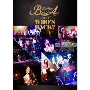 BoA/BoA LIVE TOUR 2014 〜WHO'S BACK?〜 [DVD]|dss