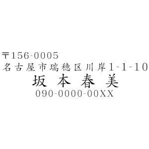 ブラザースタンプ文字入れ替え住所印楷書体 1.1cmx3.5cm シャチハタ式