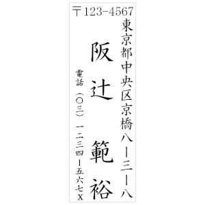 【9001】住所印スタンプ縦(印影サイズ 15.9mmx47.8mm)