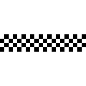 (処分品)チェッカー柄 カッティングステッカー 5cmx25cm 5枚セット チェッカーフラッグ風