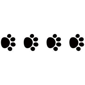 (処分品)ドッグ 犬  猫 キャット 足跡 肉球カッティングステッカーD 約5cmx約4.3cm 4個