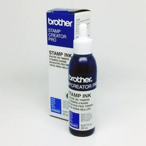 ブラザースタンプ用補充インク インク青色20cc大容量ボトル1本(プチプチ梱包なし)PRINKE