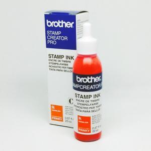 ブラザースタンプ用補充インク インク朱色20cc大容量ボトル1本(プチプチ梱包なし)