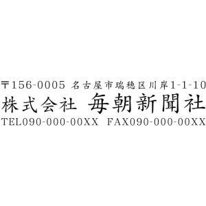 会社印8 社印 住所印 ブラザースタンプ 有効印面サイズ18mmx56mm